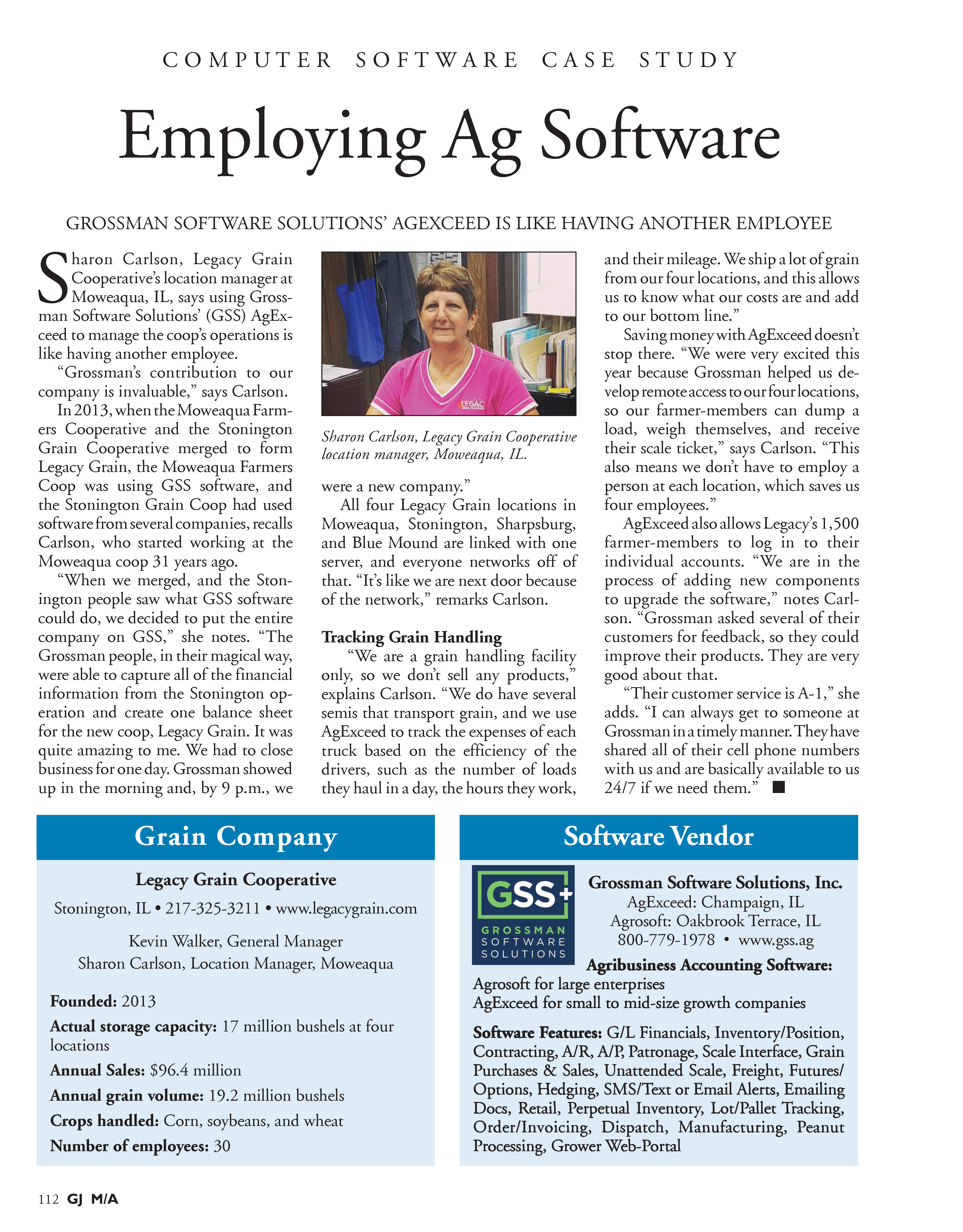 Grain Journal GSS and Legacy Grain Case Study